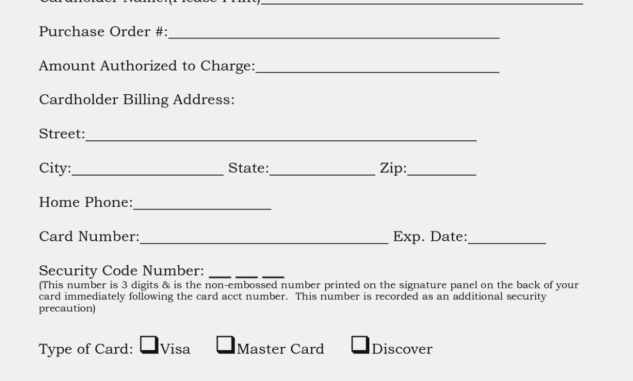 Imposing Credit Card On File Form Templates Template Authorization Intended For Credit Card On File Form Templates