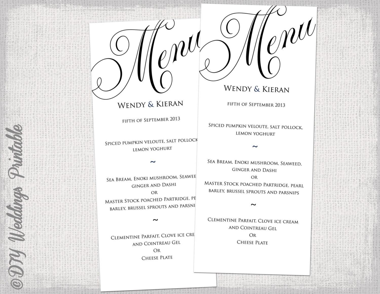 Imposing Menu Template Free Printable Word Templates ~ Istherewhitesmoke With Regard To Free Printable Menu Templates For Wedding