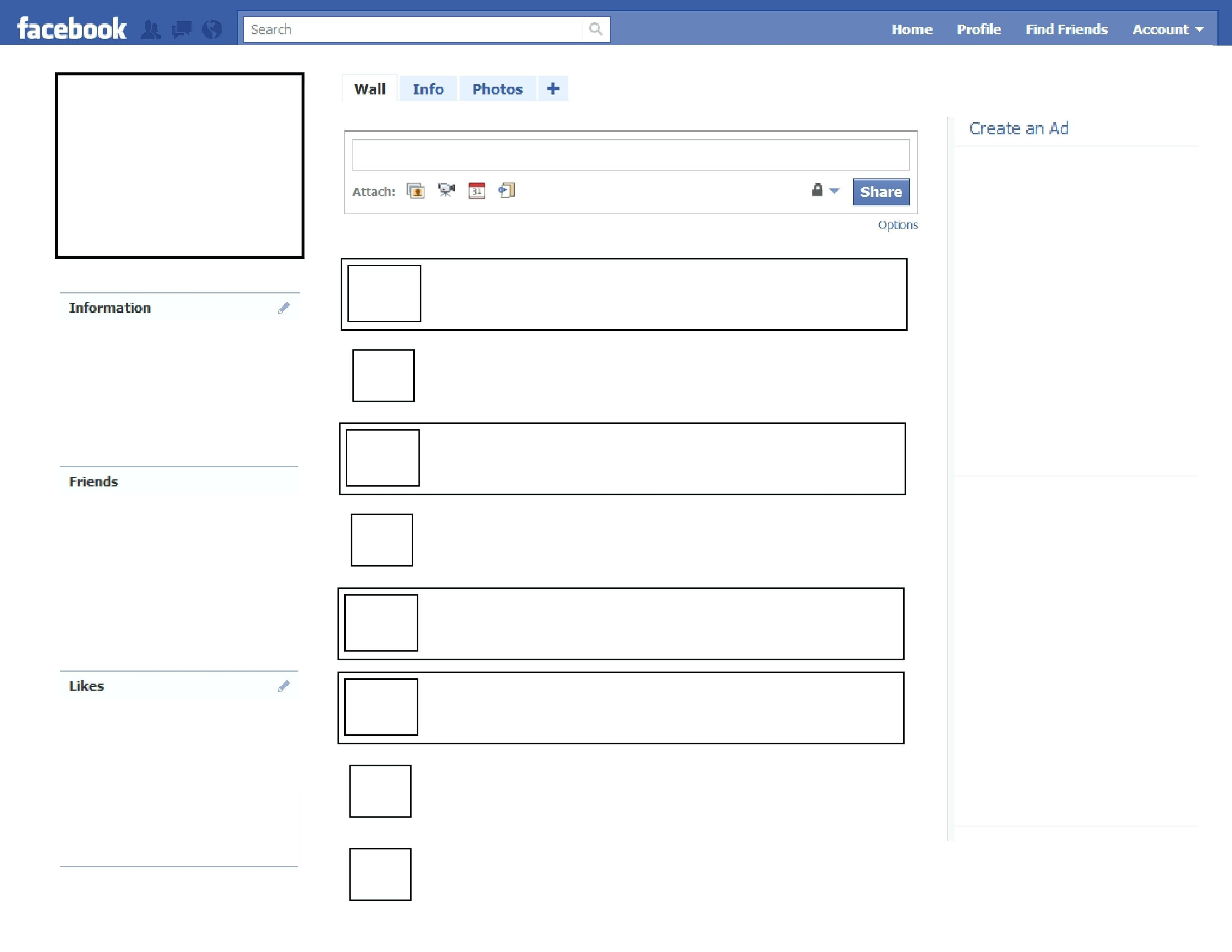 In Case Blank Facebook Page Template Ideas For Word Great Images Within Html5 Blank Page Template