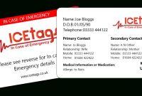 In Case Of Emergency Card  Wallet Card  Free Delivery intended for In Case Of Emergency Card Template