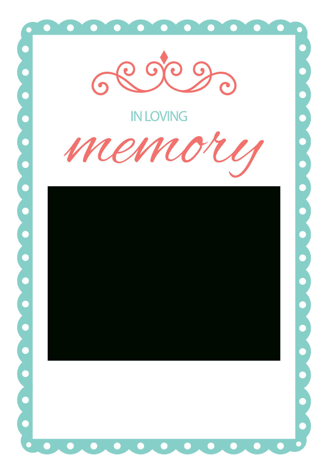 In Loving Memory  Free Memorial Card Template  Greetings Island Pertaining To In Memory Cards Templates