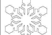 Inch Snowflake Templateprintable Snowflakewinter  Etsy within Blank Snowflake Template