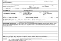 Incident Report Form Template Doc  Sansurabionetassociats pertaining to Customer Incident Report Form Template
