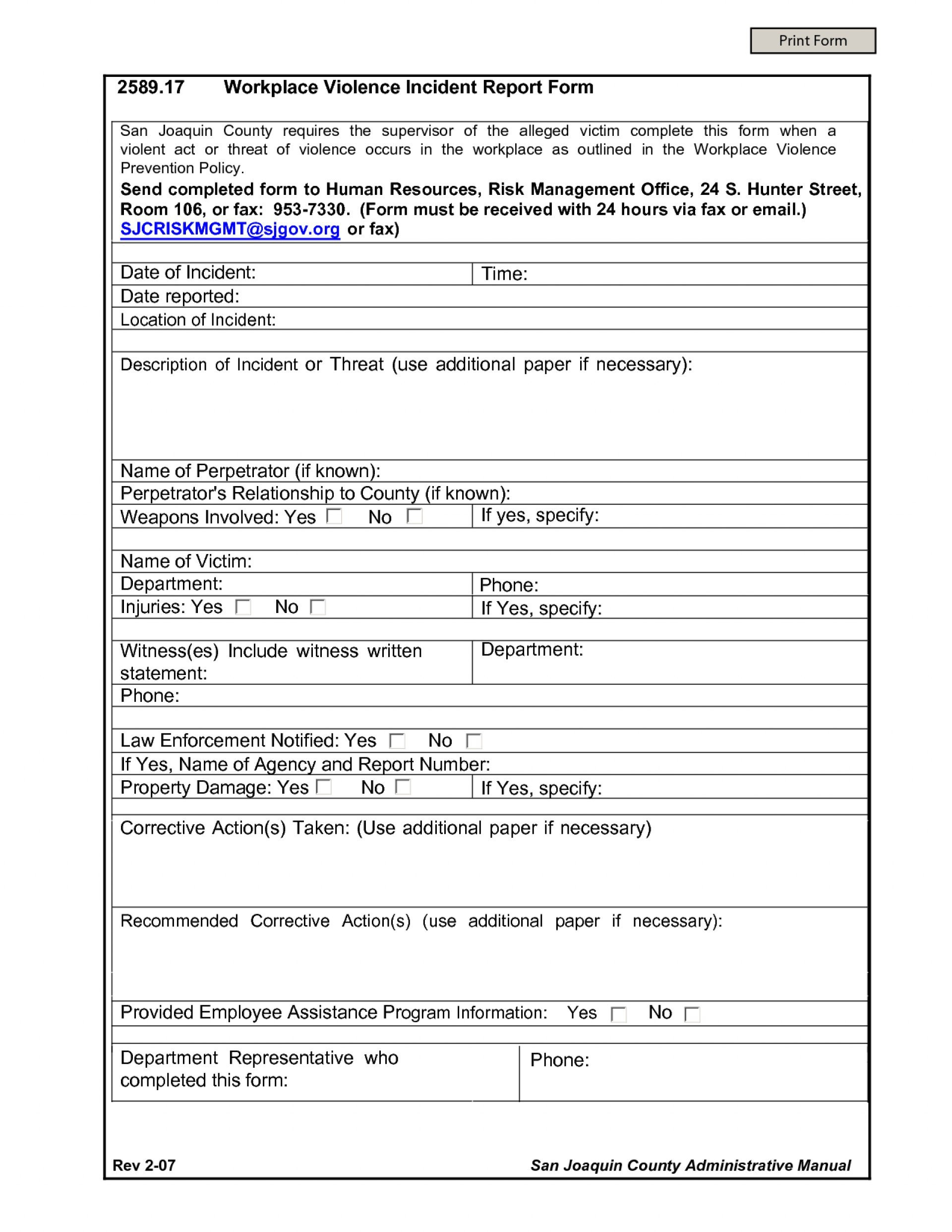Incident Report Letter Sample In Workplace  Manswikstromse In Incident Report Form Template Qld