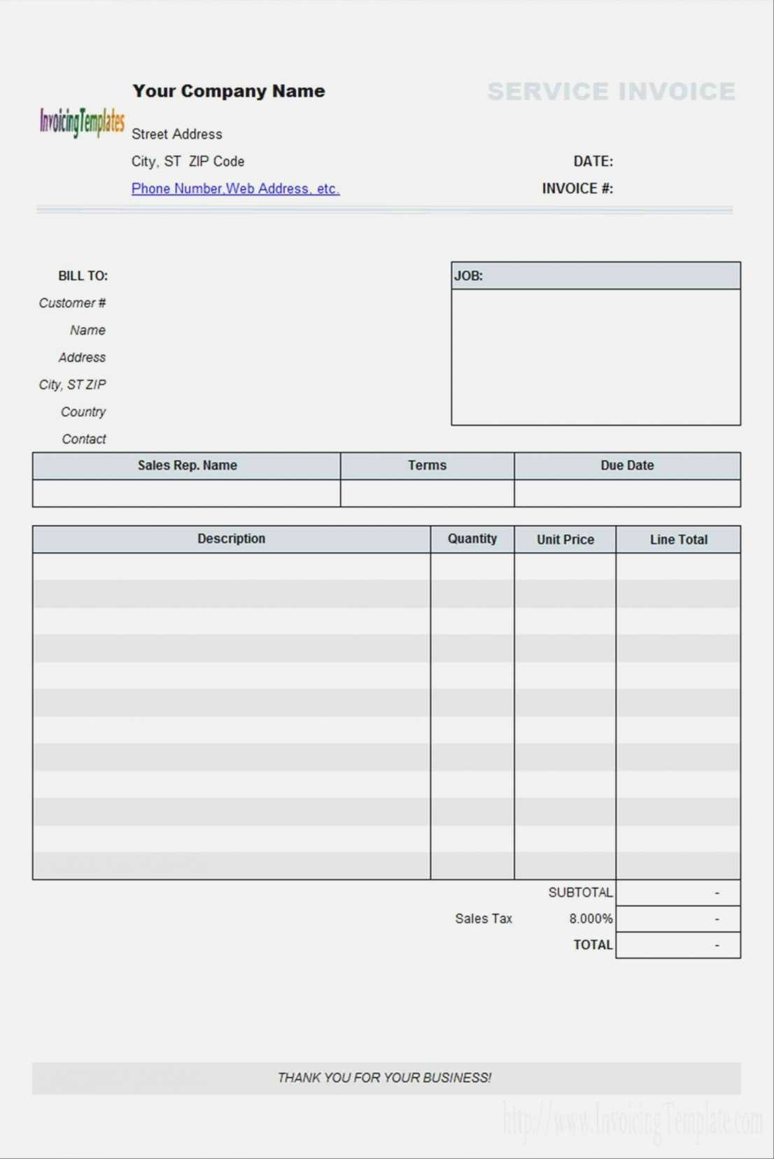 Independent Contractor Invoice Templates Template For Contractors In Contractors Invoices Free Templates