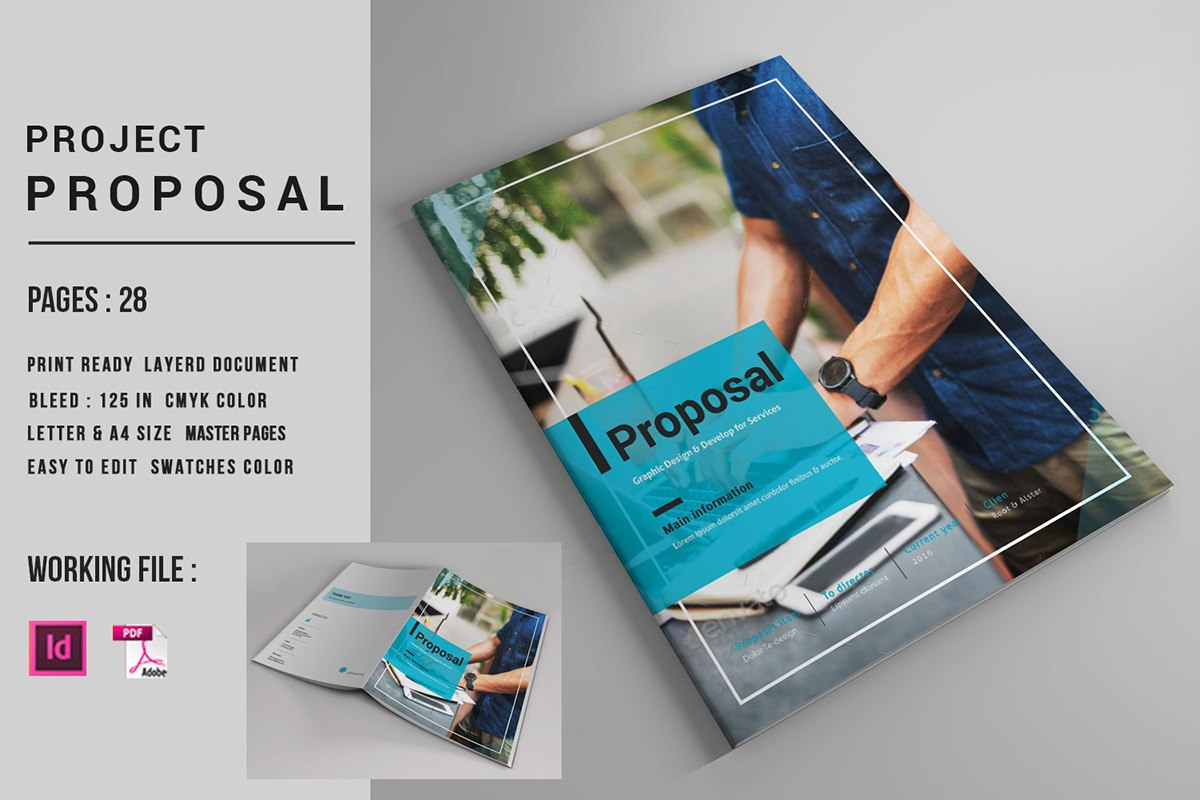 Indesign Business Proposal Template On Behance For Business Plan Template Indesign