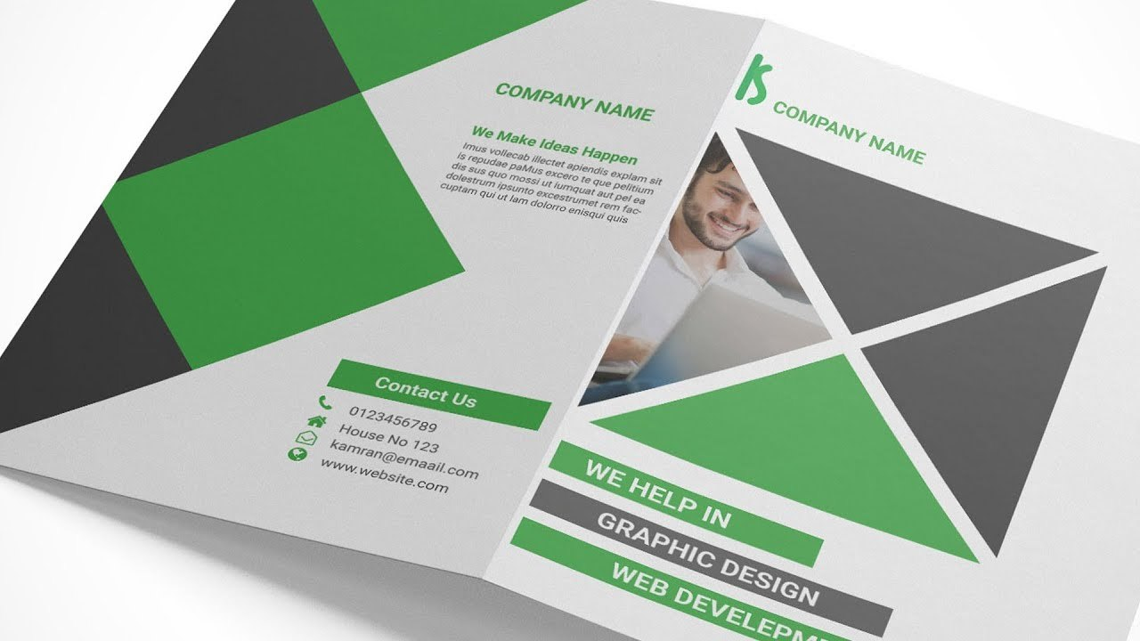 Indesign Tutorial Creating A Bi Fold Brochure In Adobe Indesign And For Z Fold Brochure Template Indesign