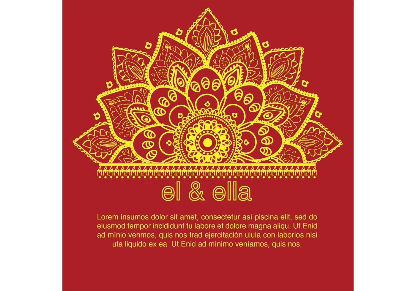 Indian Wedding Card Template  Download Free Vector Art Stock Inside Indian Wedding Cards Design Templates