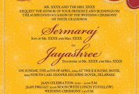 Indian Wedding Invitation Templates Template Ideas Singular intended for Indian Wedding Cards Design Templates