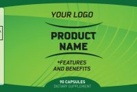 Ingredients Labels Template  Asafonggecco with Dietary Supplement Label Template