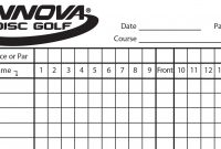 Innova Scorecard  Innova Disc Golf inside Golf Score Cards Template