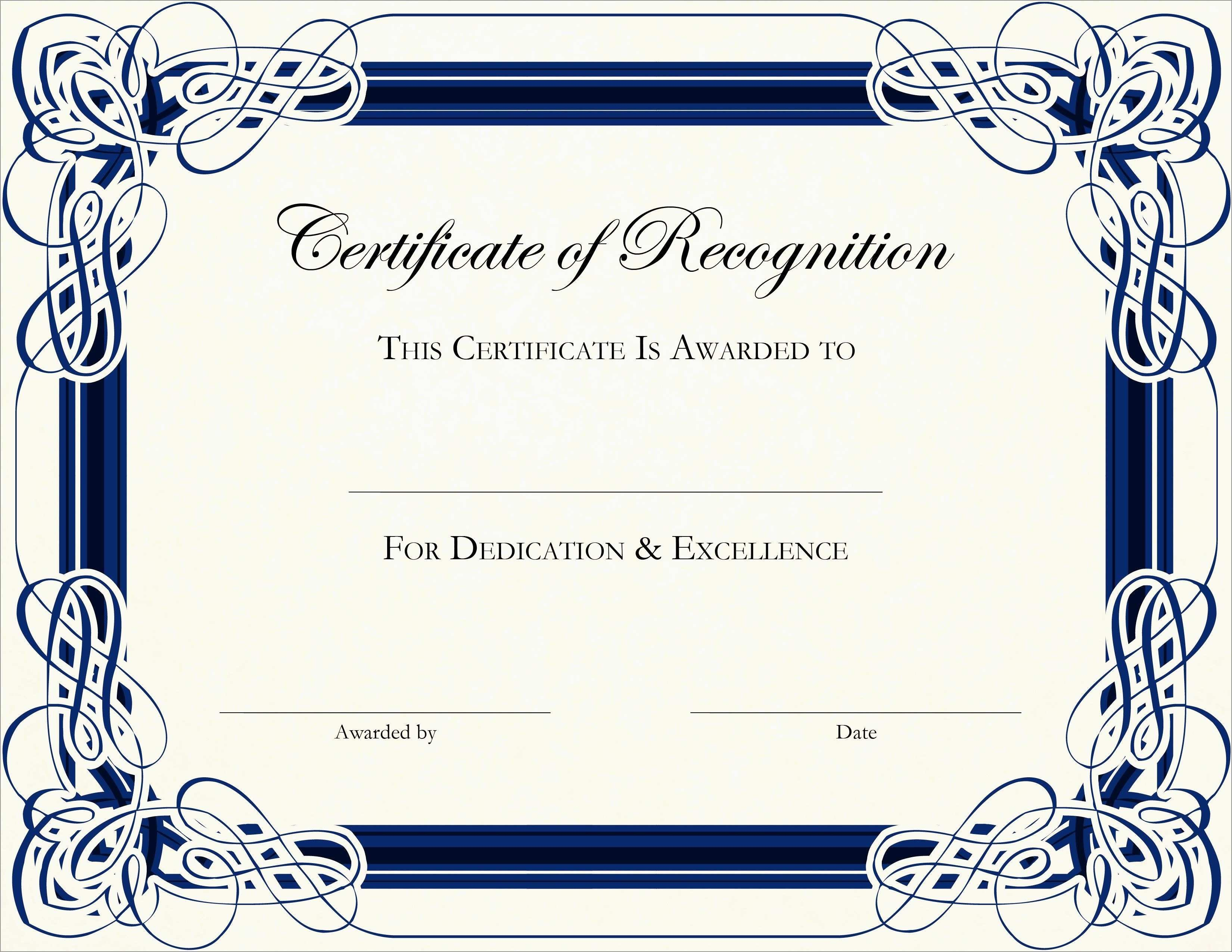 Inspirational Award Certificate Template Free  Best Of Template Inside Free Templates For Certificates Of Participation