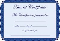 Inspirational Award Certificate Template Free  Best Of Template pertaining to Free Printable Certificate Of Achievement Template