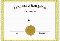 Inspirational Award Certificate Template Free  Best Of Template throughout Blank Certificate Of Achievement Template