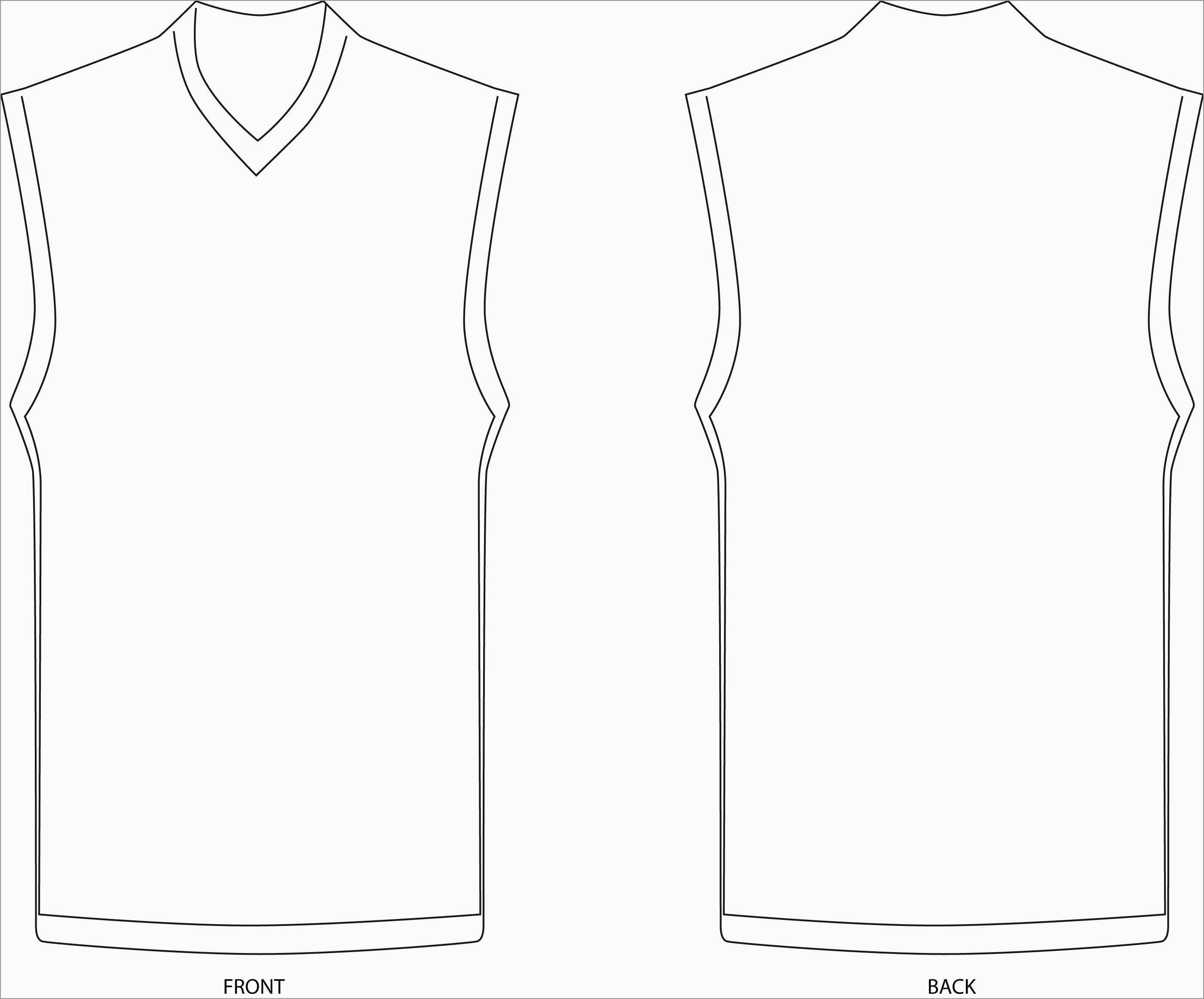 Inspirational Baseball Jersey Vector Template Free  Best Of Template In Blank Basketball Uniform Template
