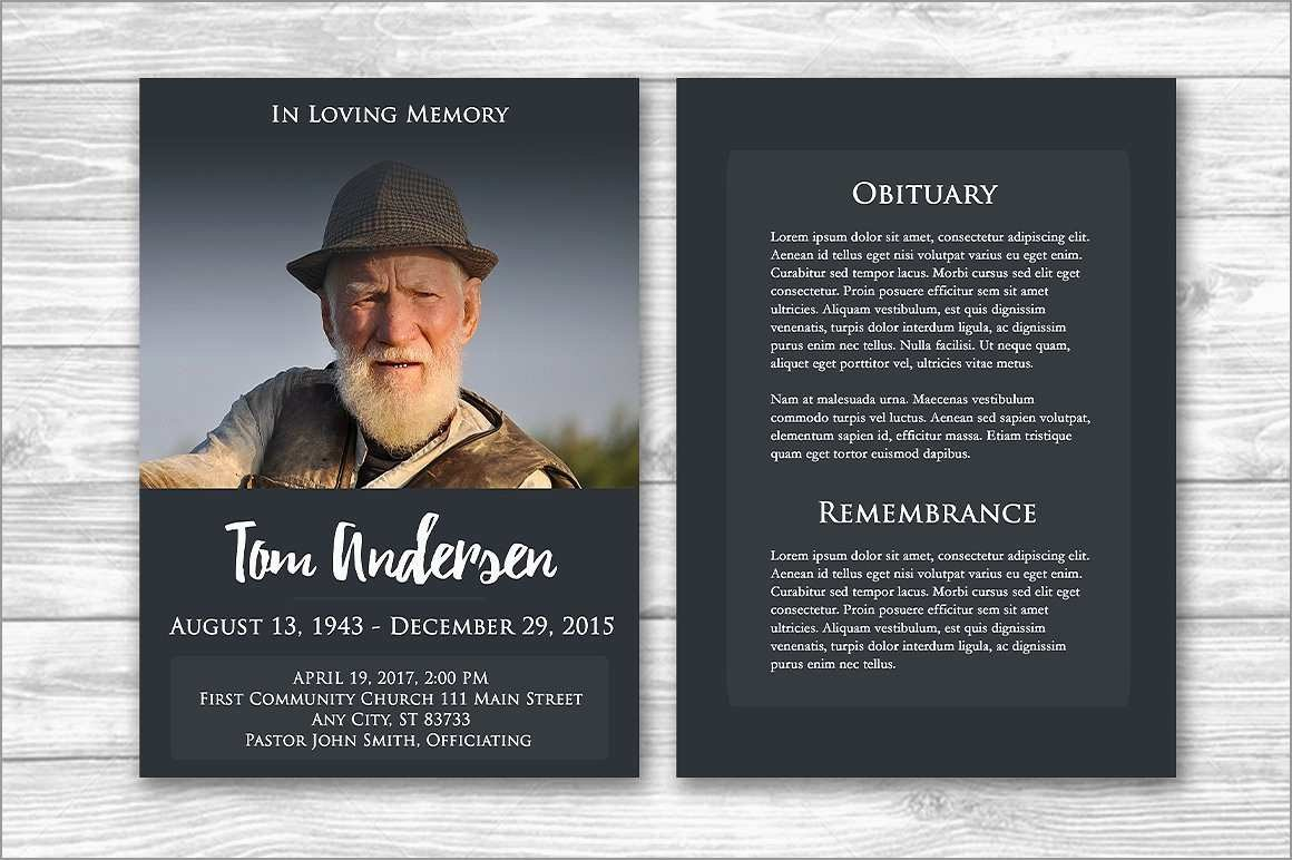 Inspirational Free Funeral Program Template Photoshop  Best Of Template Intended For Memorial Brochure Template