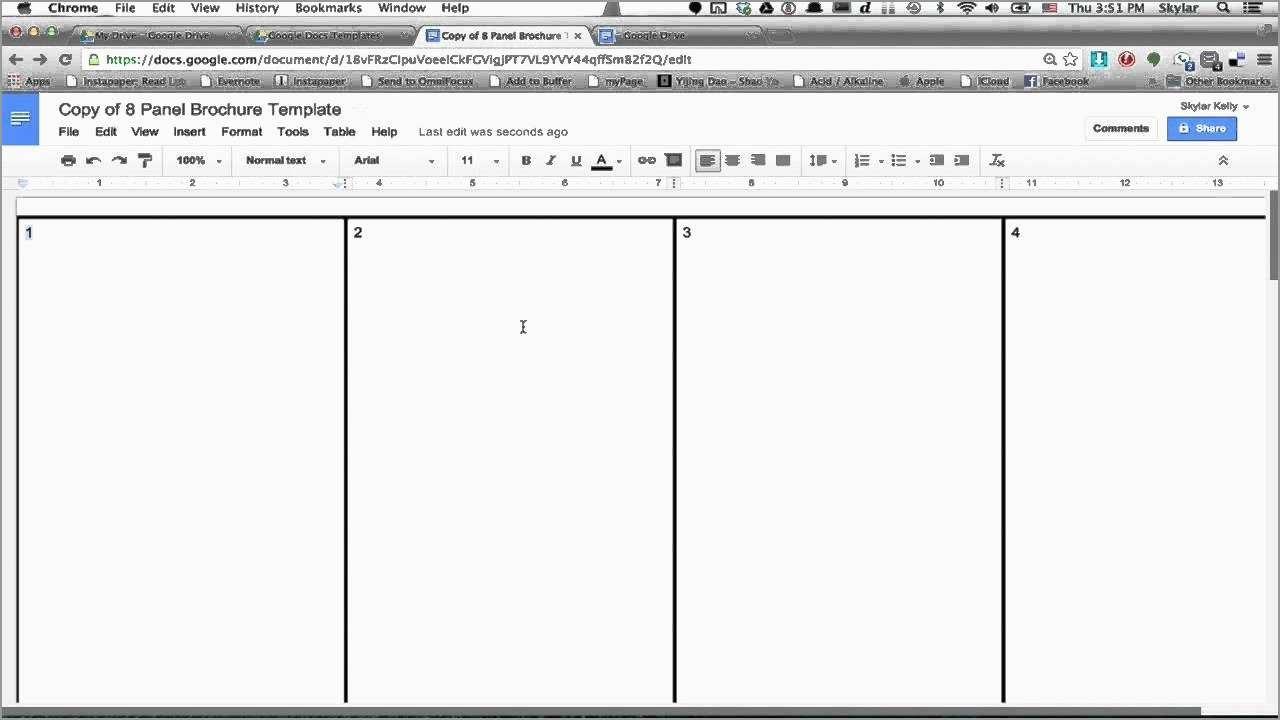 Inspirational Free Tri Fold Brochure Template Google Docs  Best Of Throughout Brochure Template Google Drive