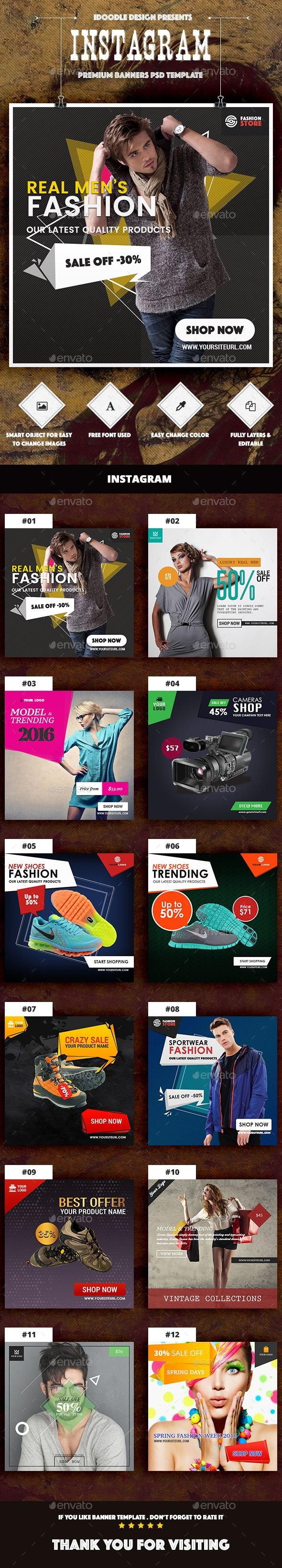 Instagram Product Banners Template Psd Ad Promotion  Social Media Regarding Product Banner Template