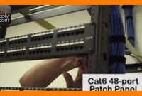 Installing Cable And Terminating A Patch Panel Part  Of   Youtube intended for Adc Video Patch Panel Label Template