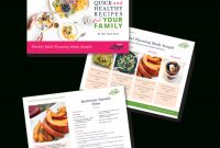 Instant Downloadphotoshop Template For A Freebie  Meal Planning And inside Recipe Card Design Template