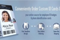 Instantcard  Order Employee Id Cards  Badges Online With Free Design regarding Photographer Id Card Template