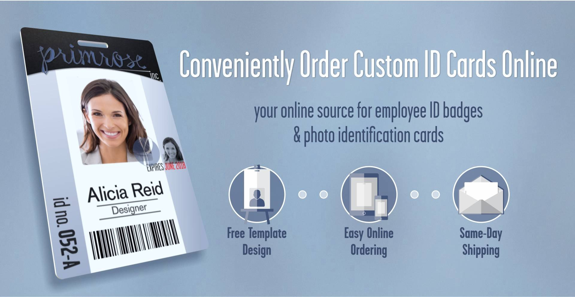 Instantcard  Order Employee Id Cards  Badges Online With Free Design Within Media Id Card Templates