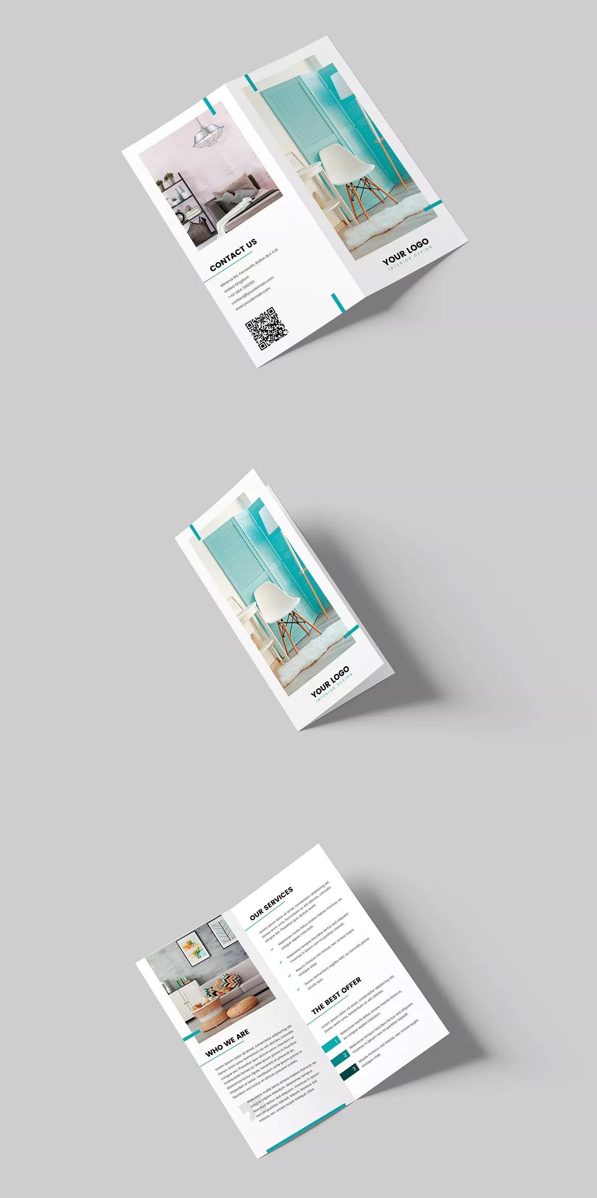 Interior Design Bifold Dl Brochure Template Psd  Brochure Design For Hotel Brochure Design Templates