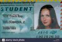 International Student Card Stock Photos  International Student Card with regard to Isic Card Template
