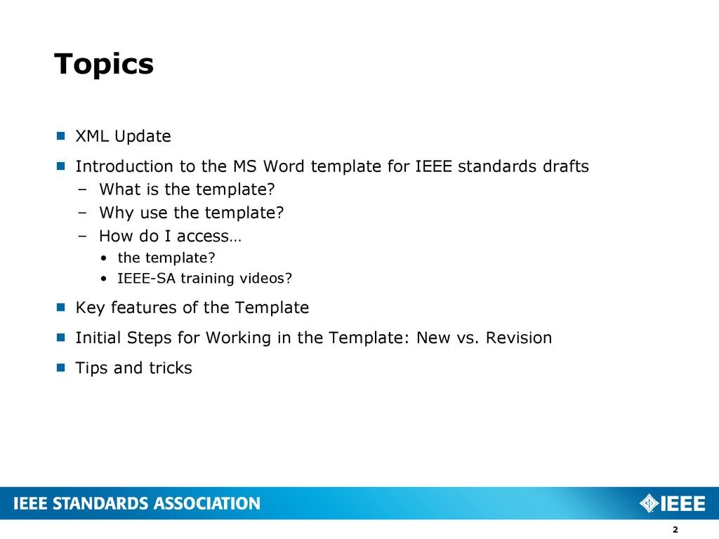 Introduction To The Ms Word Template For Ieee Standards Drafts  Ppt With Ieee Template Word 2007