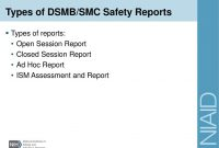 Investigator Training  Ppt Download in Dsmb Report Template