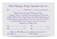 Invitations Exquisite Wedding Response Cards Ideas — Salondegas with Wedding Rsvp Menu Choice Template