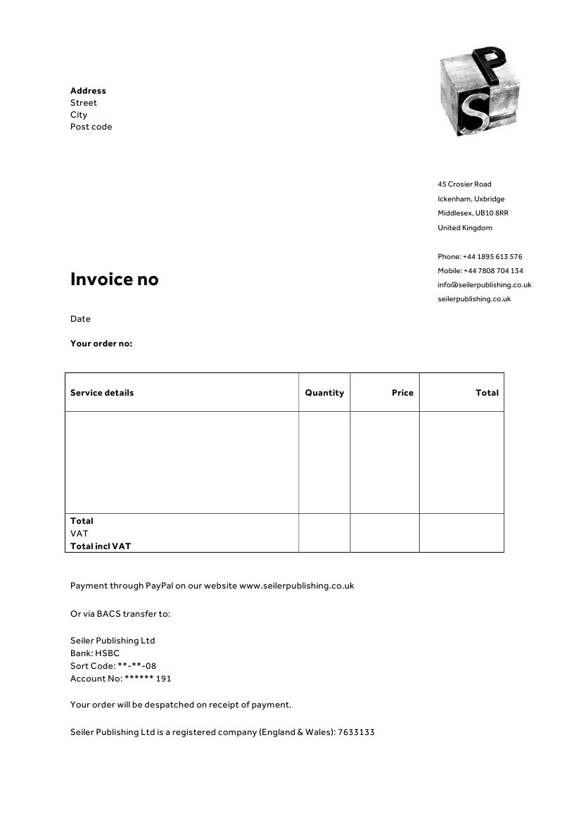 Invoice  Letterhead Templates For Therapists  Websites For Intended For Business Invoice Template Uk
