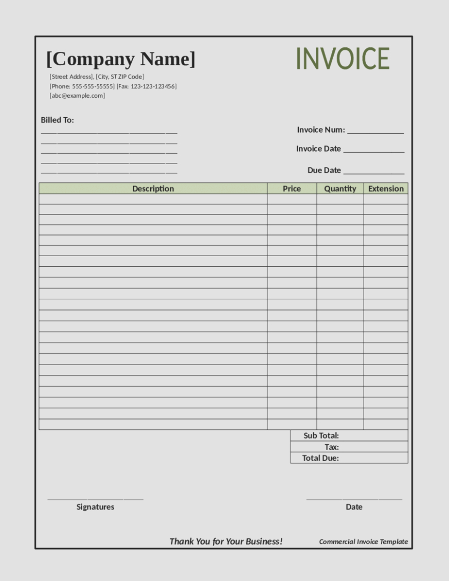 Invoice Template For Builders  Construction Billing Format Sweep With Invoice Template For Builders