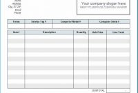 Invoice Template In Excel inside Invoice Template In Excel 2007