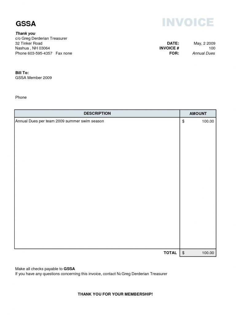 Invoice Template On Excel  Microsoft Uk Gst For Services In Throughout Invoice Template In Excel 2007