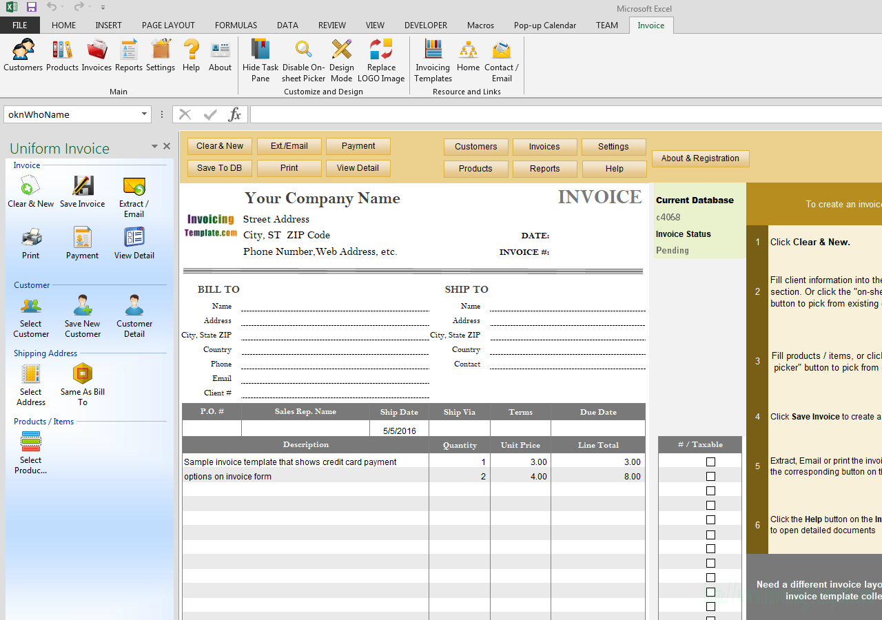 Invoice Template With Credit Card Payment Option Regarding Credit Card Bill Template