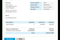 Invoice Templates  Invoice Generator  Paypal Uk with regard to Business Invoice Template Uk
