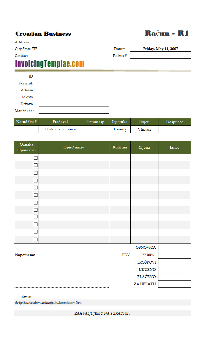 Invoicing Template In Euros Inside European Invoice Template