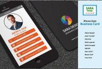 Iphone Stylish Business Card Templates Psd  Business Card Templates with Iphone Business Card Template