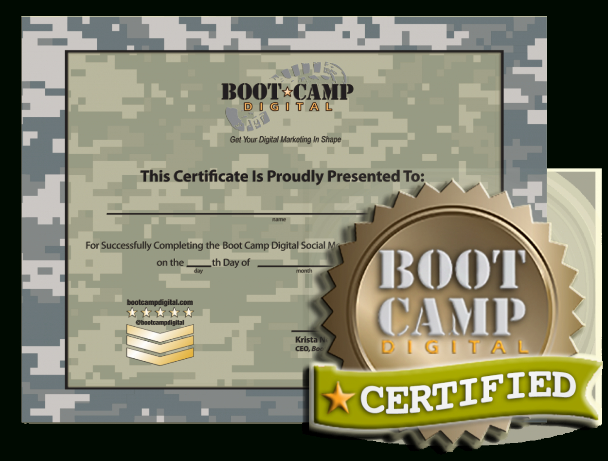 Is A Social Media Certification Worth It Intended For Boot Camp Certificate Template