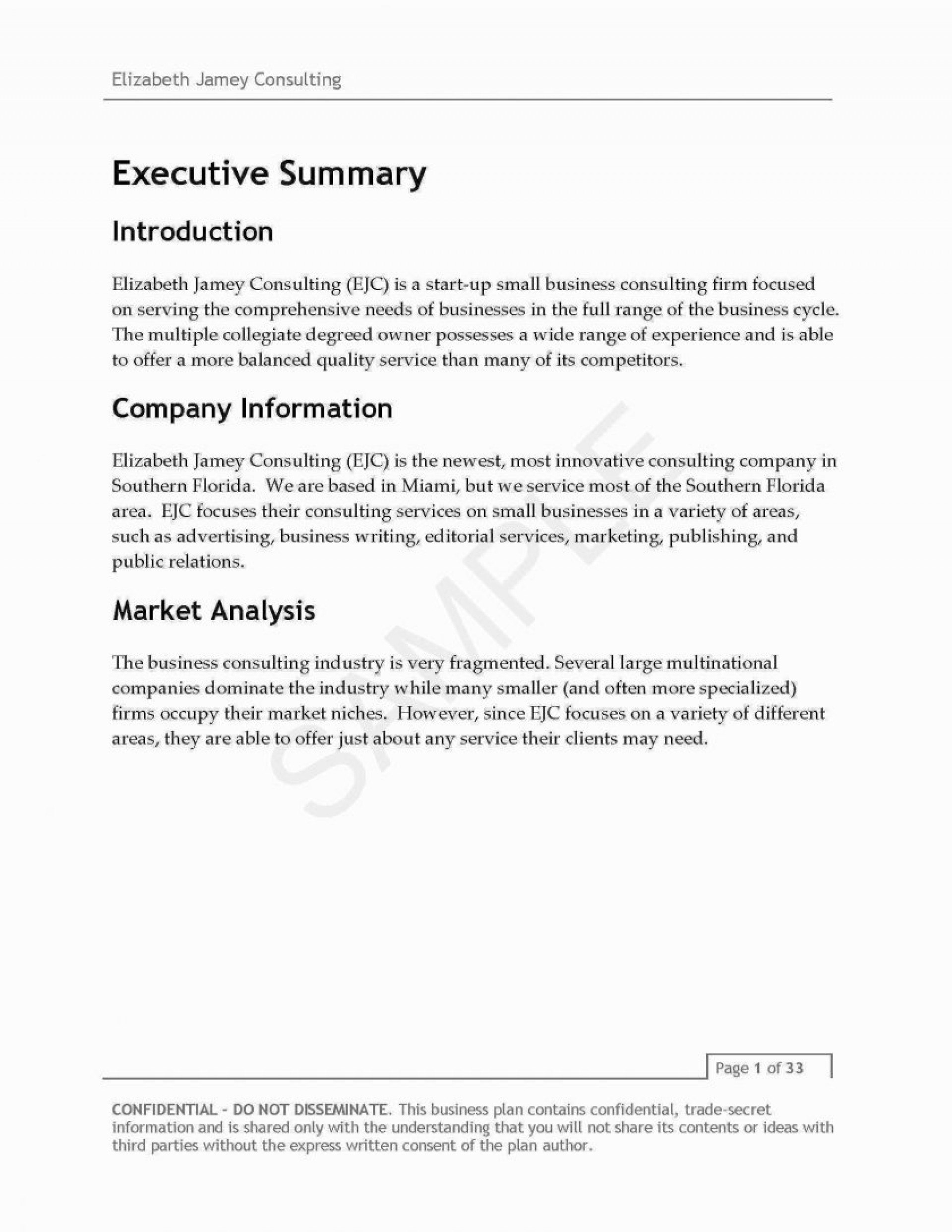 It Consulting Business Plan Examples Sample Etiquette Consultant Inside Consulting Business Plan Template Free