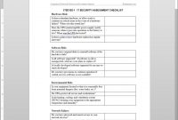 It Security Assessment Checklist Template regarding It Audit Report Template Word