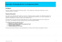 It Service Level Agreement  Templates At Allbusinesstemplates for Information Technology Service Level Agreement Template