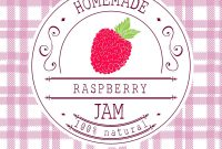 Jam Label Design Template For Raspberry Dessert Vector Image with regard to Dessert Labels Template