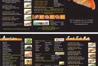 Japanese Restaurant To Go Menu Design And Printing Wwwinprintla with regard to To Go Menu Template