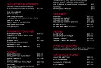 Jcp Salon Located Inside Jcpenney Service Menu  Business  Salon for Salon Service Menu Template