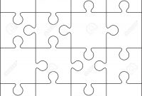 Jigsaw Puzzle Blank Template Or Cutting Guidelines Royalty Free intended for Blank Jigsaw Piece Template