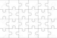 Jigsaw Puzzle Blank Template X Elements Twenty Four Puzzle throughout Blank Jigsaw Piece Template