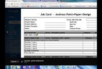 Job Card Template for Sample Job Cards Templates