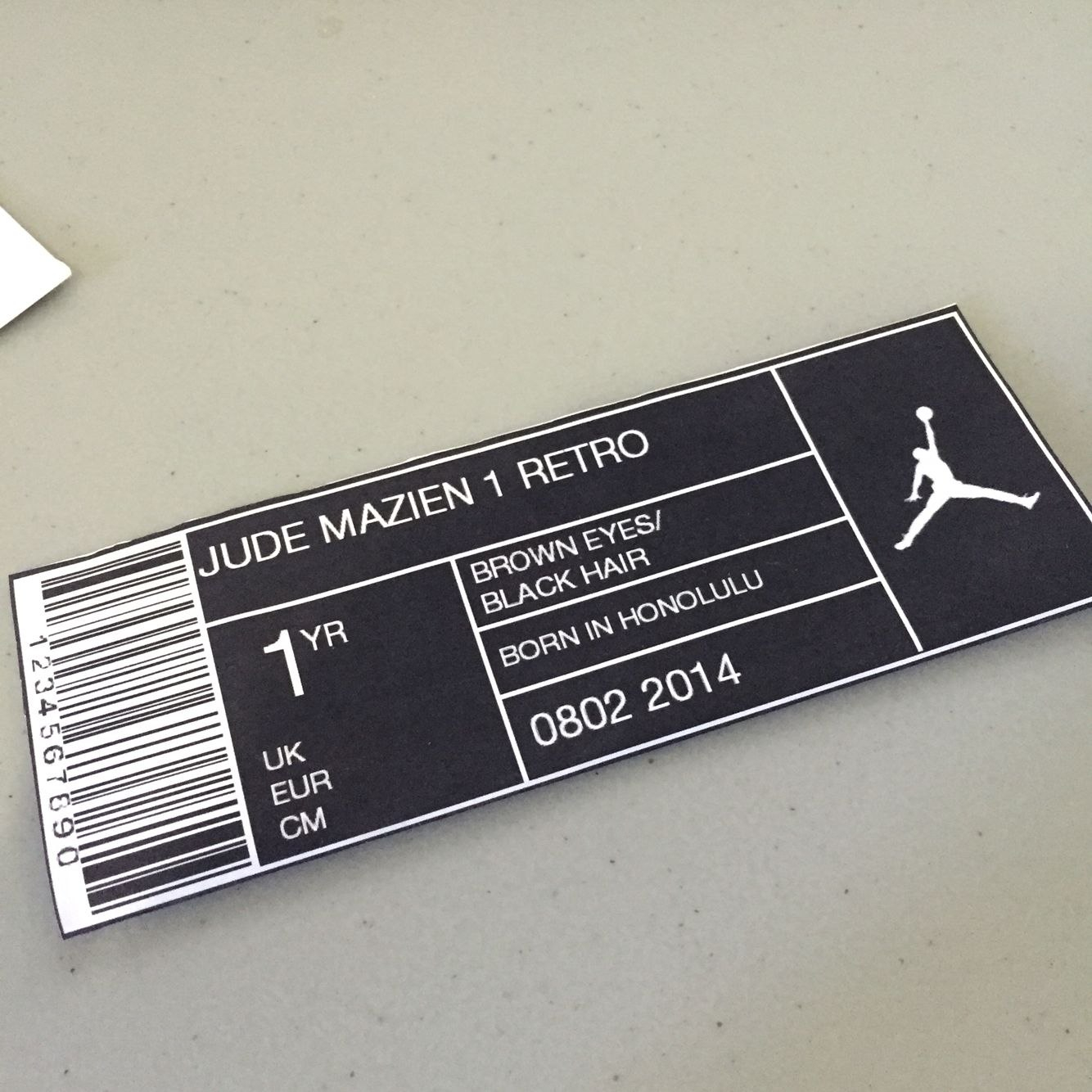 Jordan Shoe Box Labels  Basketball Birthday Party In   Guys Inside Nike Shoe Box Label Template